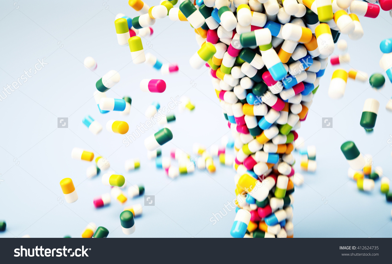 Abstract pills funnel 3d illustration foundry community sciox Images